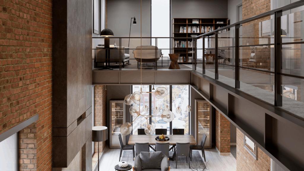 mezzanine floor without walls