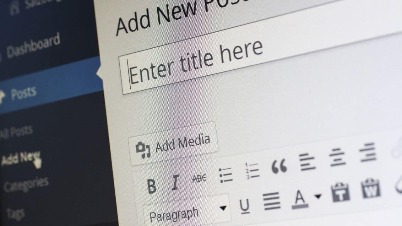 creating a blog on wordpress